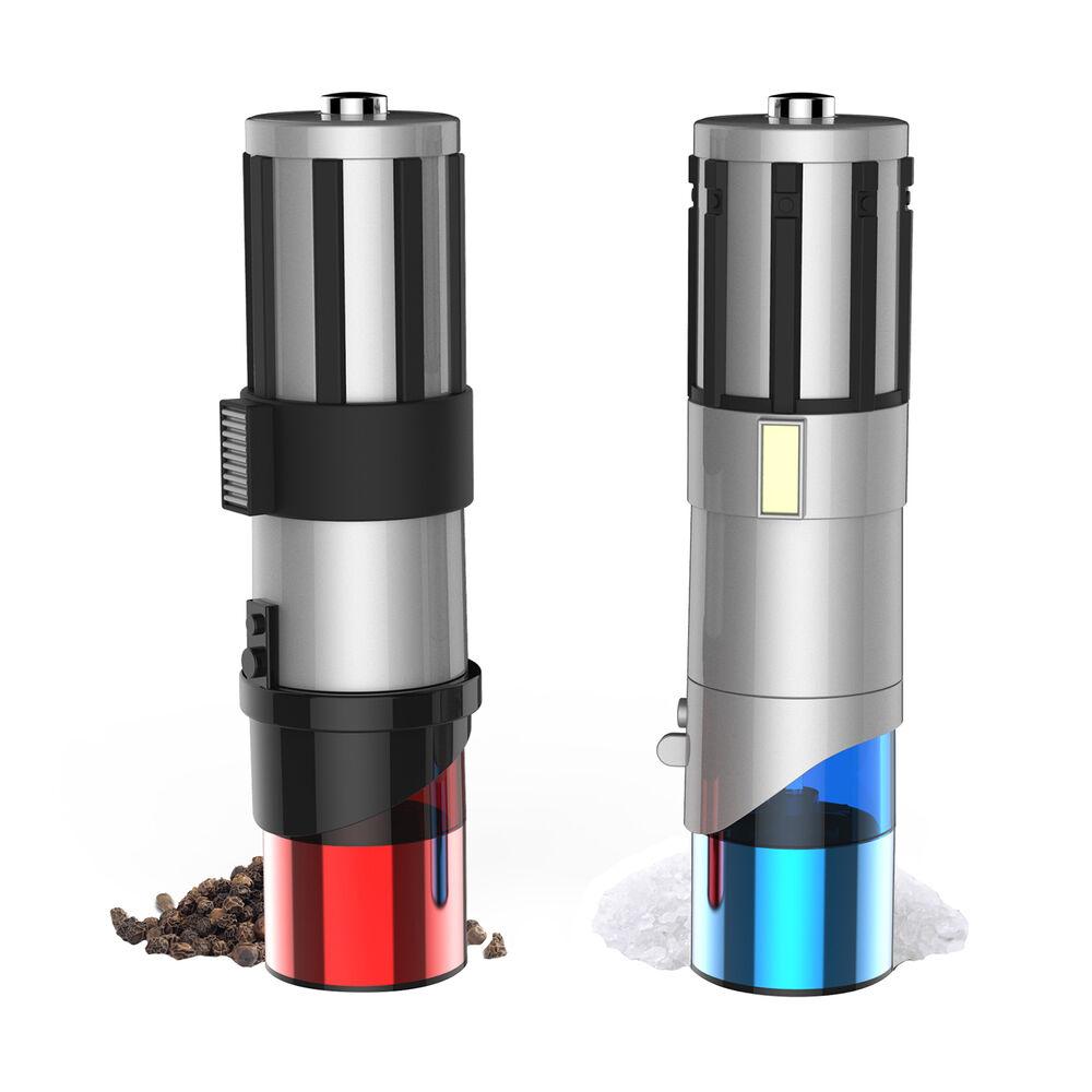 <i>Star Wars</i>&#8482; Lightsaber&#8482; Electric Salt & Pepper Mills, Set of 2