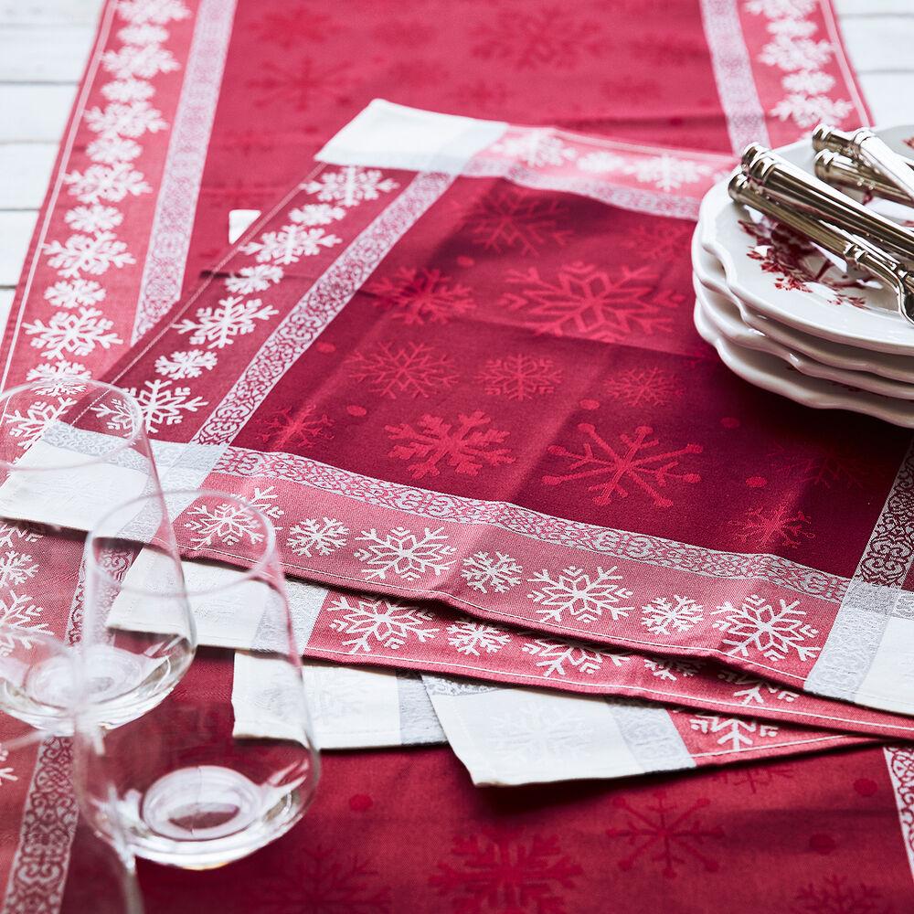 """Jacquard Snowflake Christmas Table Runner, 108"""" x 18.5"""""""