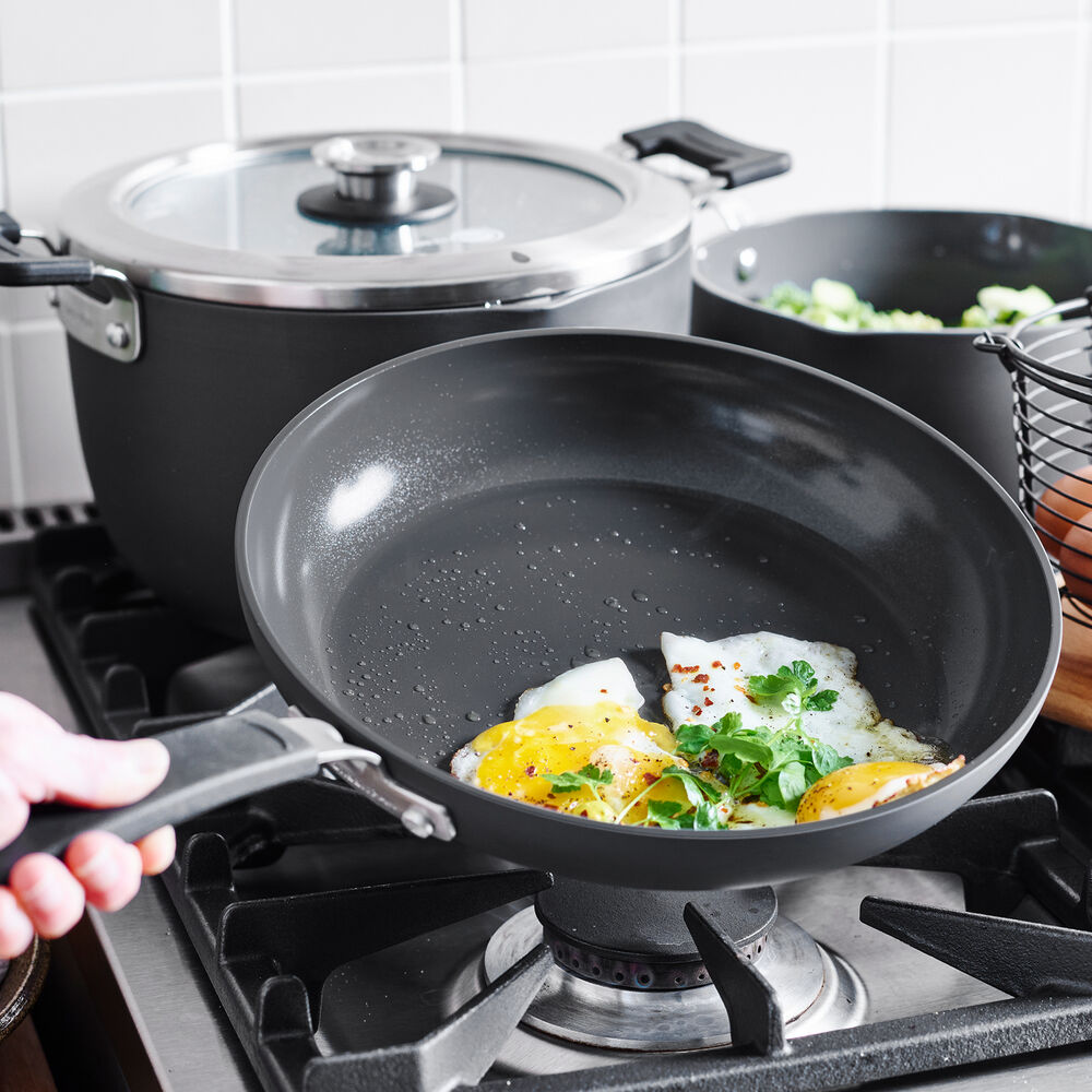 GreenPan Levels Stackable Ceramic Nonstick Grill Pan, 11""