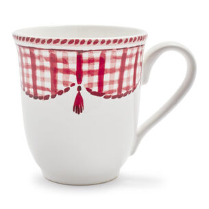 Red Gingham Mug, 15 oz.