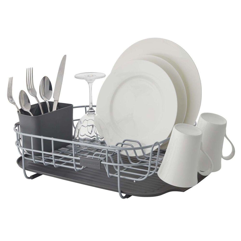 KitchenAid Low-Profile Dish Rack, Charcoal Gray