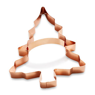 Sur La Table Copper-Plated Christmas Tree Cookie Cutter with Handle