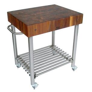 "John Boos & Co. Walnut Cucina D'Amico Cart, 30"" x 24"" x 35"""