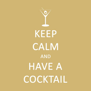 Keep Calm Have a Cocktail Paper Cocktail Napkins