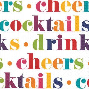 Drink Cocktail Napkins, Set of 20