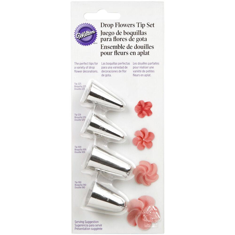 Wilton Drop Flower Tips, Set of 4
