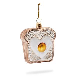 Egg Toast Glass Ornament