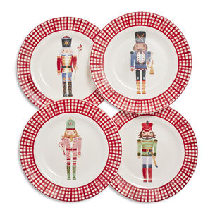 Nutcracker Appetizer Plates, Set of 4