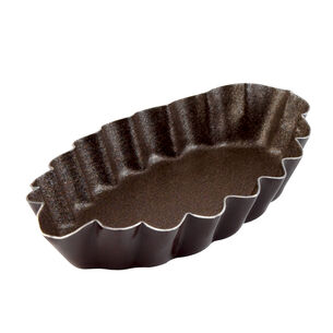 Gobel Nonstick Fluted Barquette Mold, 3""