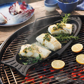 Sur La Table Cast Iron Fish Pan