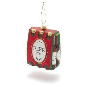Beer Six-Pack Glass Ornament