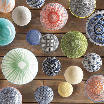 """Stamped Sun Pattern Bowl, 8"""""""