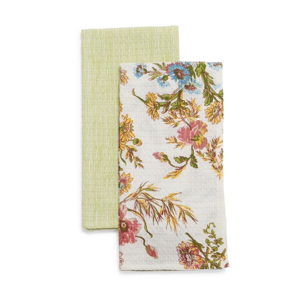 Wildflower Kitchen Towels by April Cornell, Set of 2