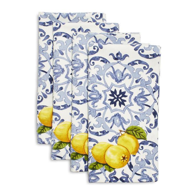 Limone Tile Napkins, Set of 4