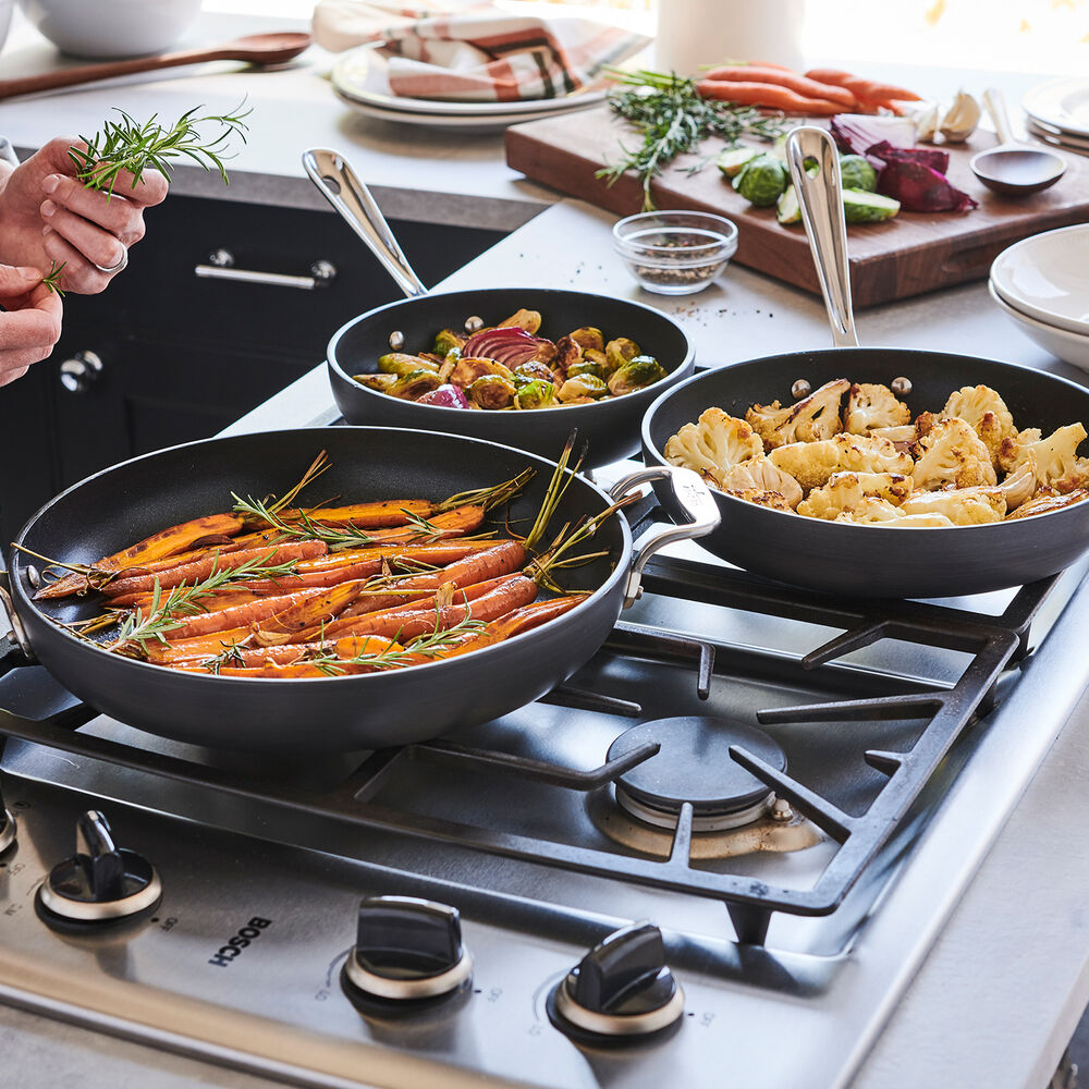 """All-Clad HA1 Nonstick Set of 3 Skillets, 8"""", 10"""" and 12"""""""