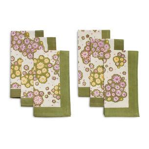 Couleur Nature Marguerites Cloth Napkins, Set of 6