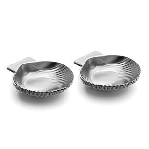 Outset All-Purpose Grillable Stainless Steel Seashells, Set of 12