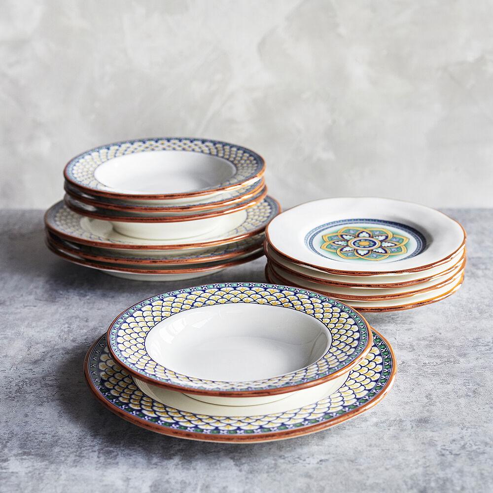 Geometrico 12-Piece Dinnerware Set