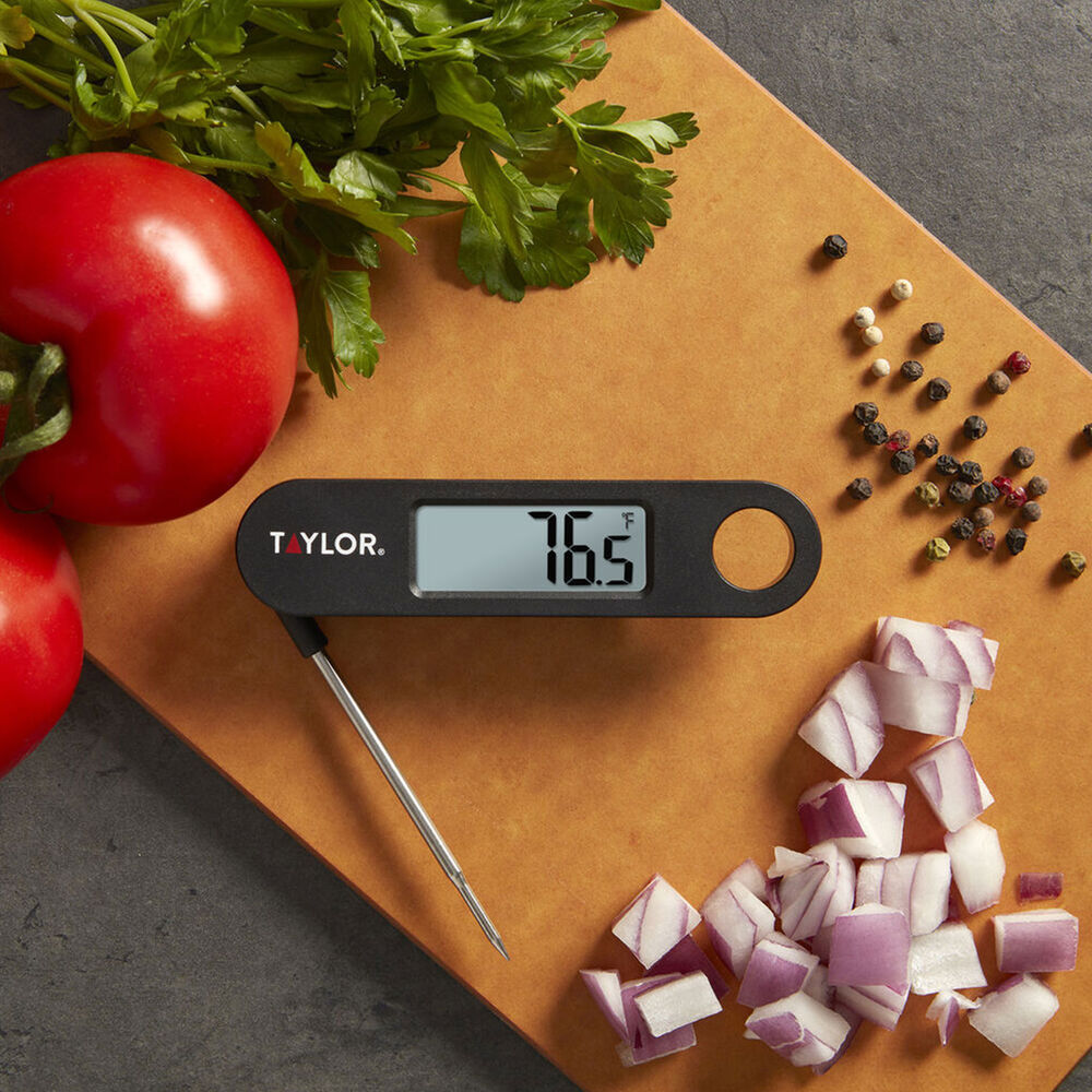 Taylor Digital Folding Probe Thermometer, Black