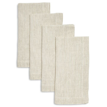 Linen Pinstripe Napkins, Sets of 4