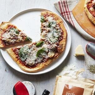 Italian Whiteware Round Cheese Platter