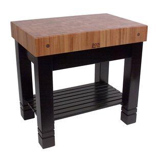 """John Boos & Co. Le Rustica Cherry Block Table, 36"""" x 24"""" x 34"""""""