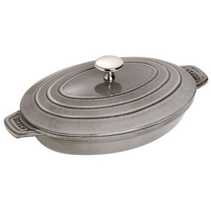 "Staub Oval Covered Baker, 9"" x 7"""