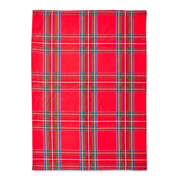 "Christmas Plaid Kitchen Towel, 36"" x 22"""