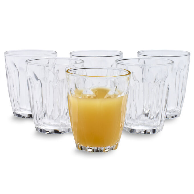 Duralex Provence Glasses, Set of 6, 3.1 oz.