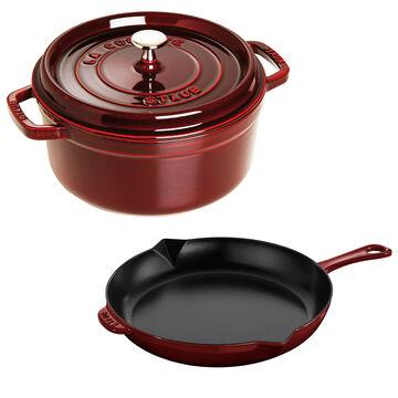 Staub 3-Piece Enameled Cast Iron Cookware Set