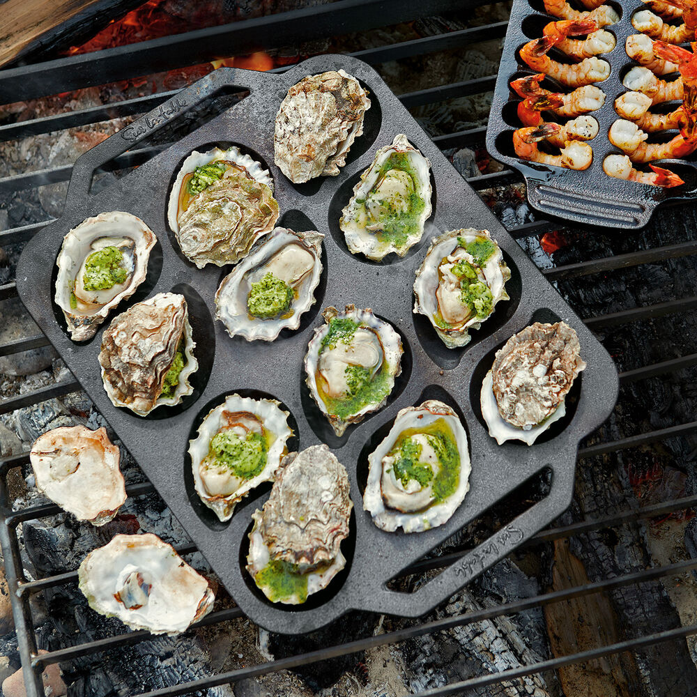Sur La Table Cast Iron Oyster Pan, 12 Cavity