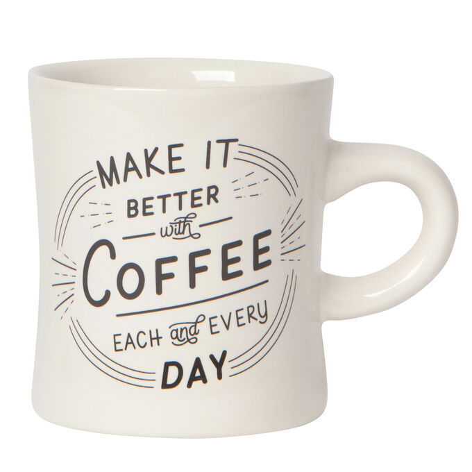 Better with Coffee Diner Mug, 12 oz.
