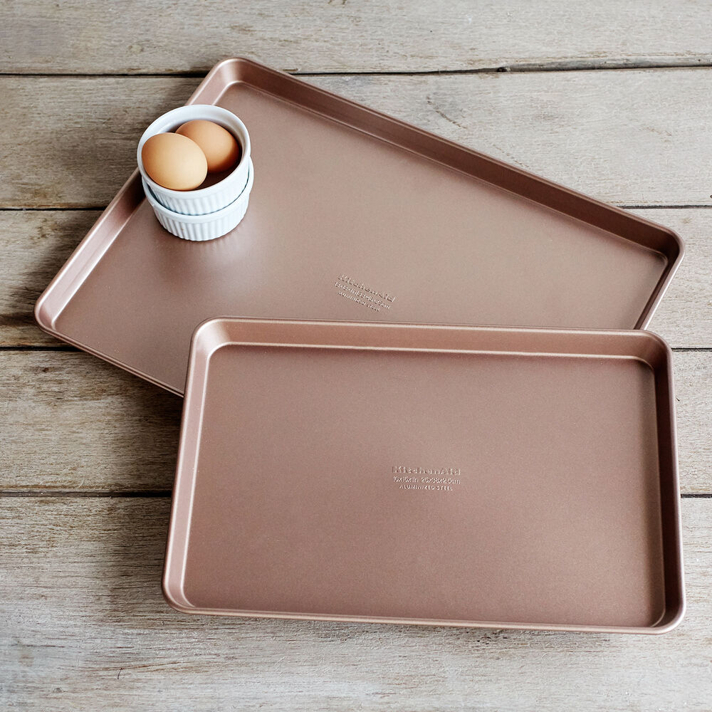KitchenAid® Professional-Grade Nonstick Jellyroll Pan and Baking Sheet, Set of 2