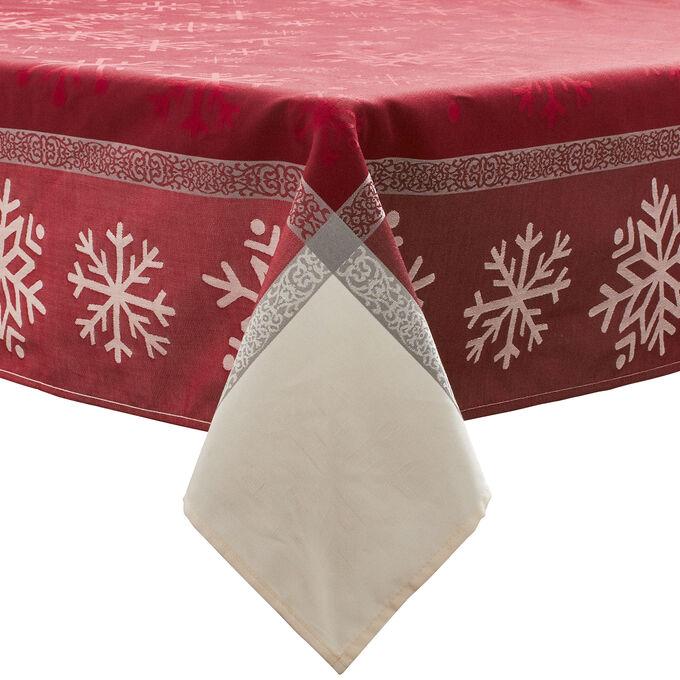 Jacquard Snowflake Christmas Tablecloths