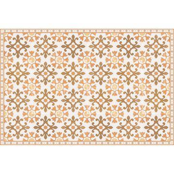 Orange Tile Vinyl Floor Mat