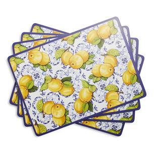 Cork-Backed Limone Placemats, Set of 4