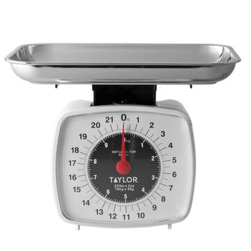 Taylor Mechanical Food Scale White, 22 lb.
