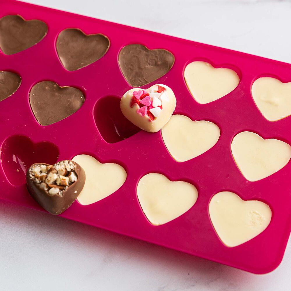 Trudeau Silicone Heart Candy Molds, Set of 3