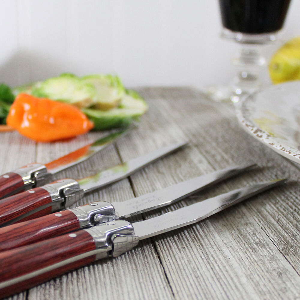 French Home Laguiole Steak Knives, Set of 4