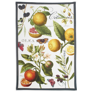 "Botanical Citrus Kitchen Towel, 30"" x 20"""