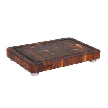 """John Boos Signature Cutting Board with Stainless Steel Feet, 18"""" x 12"""""""
