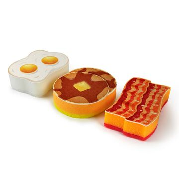 Fred Breakfast Scrub Sponges, Set of 3