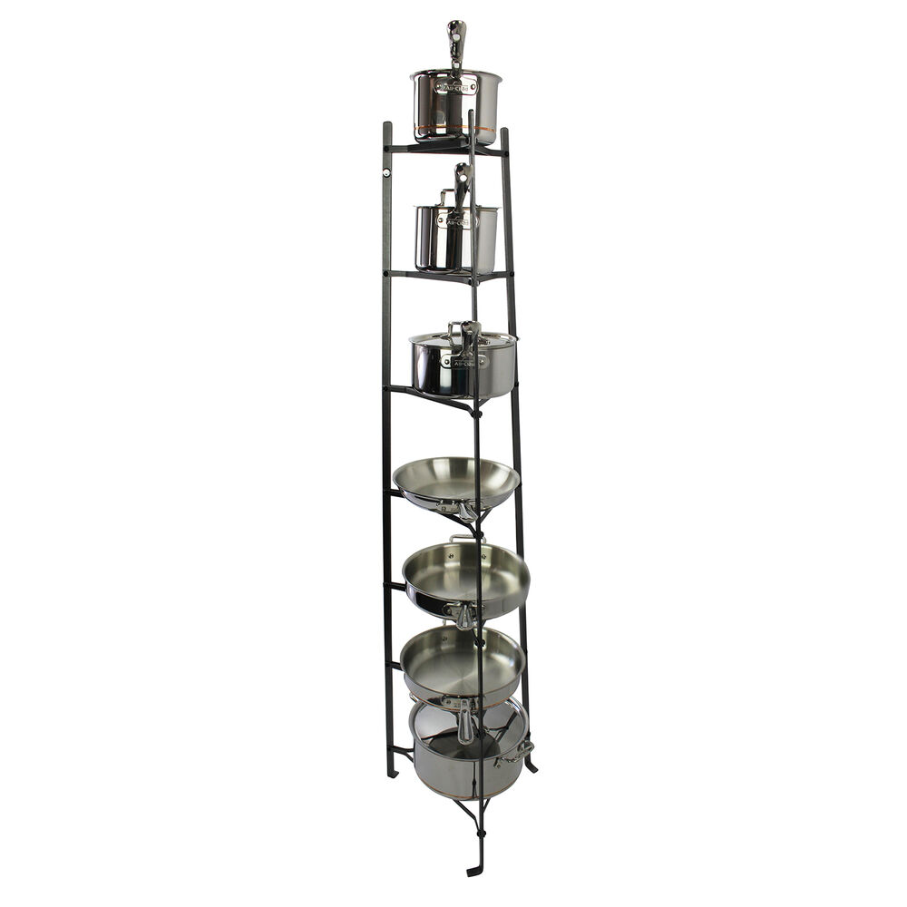 Enclume Handcrafted 7-Tier Gourmet Hammered Steel Stand (Unassembled)