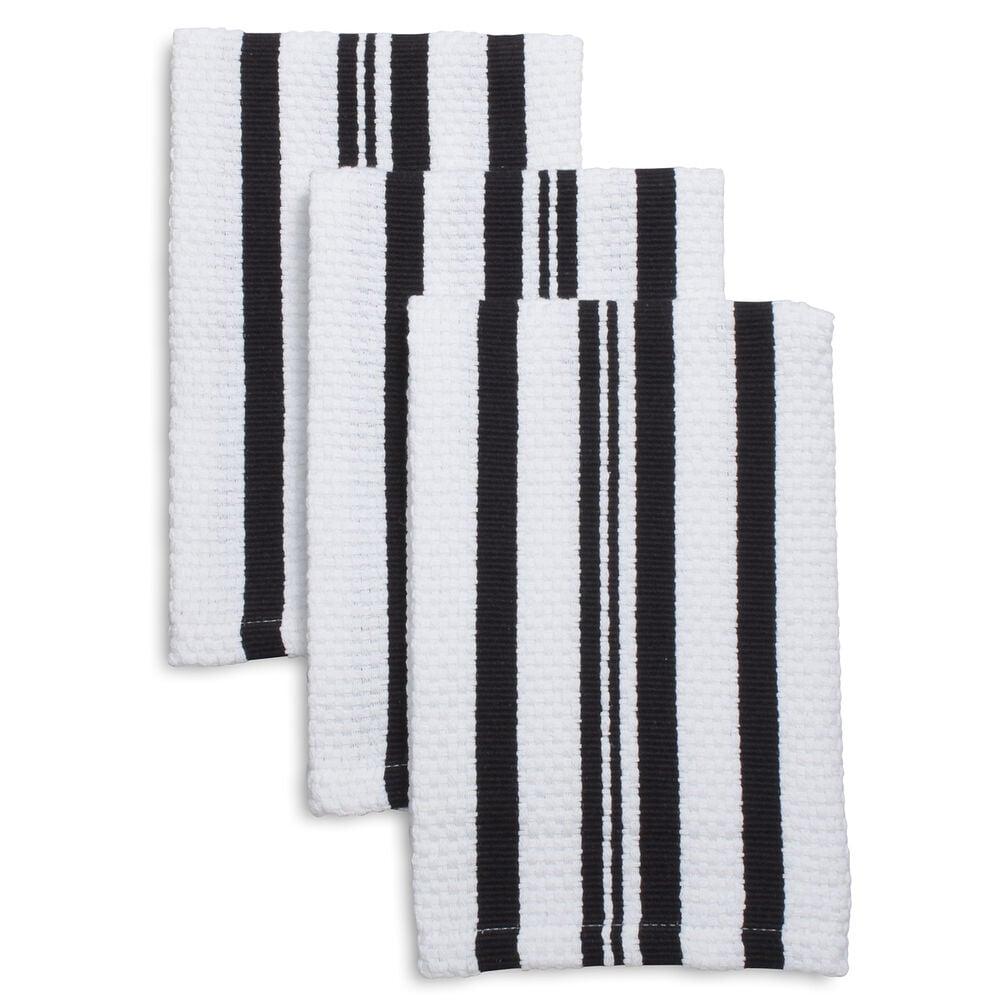 "Striped Dishcloths, 12"" x 12"", Set of 3"