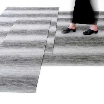 Chilewich Shade Floor Mat, Chrome