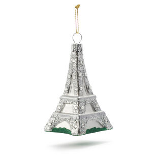 Eiffel Tower Glass Ornament