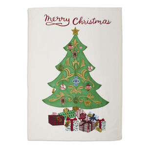 "Merry Christmas Tree Kitchen Towel, 28"" x 20"""