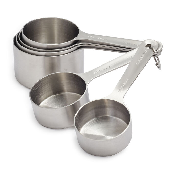 Sur La Table Stainless Steel Measuring Cups, Set of 6