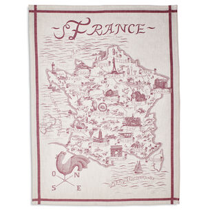 "Map of France Jacquard Kitchen Towel, 30"" x 22"""