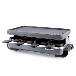 Classic Raclette Party Grill with Reversible Cast Aluminum Grill Plate